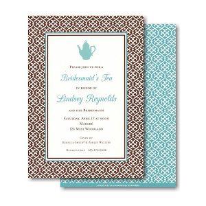 Brown Linking Pattern Bridal Shower Invitation Icon