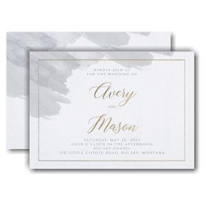 Brushed Watercolor Wedding Invitation Icon