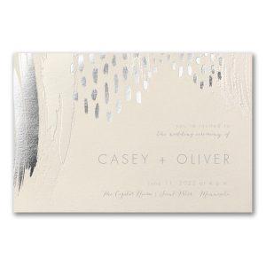 Brushstroke Beauty in Ecru Wedding Invitation Icon