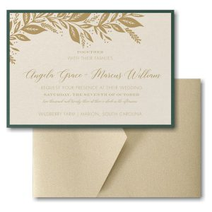 Canopy of Leaves Layered Pocket Wedding Invitation Icon