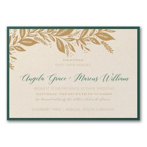 Canopy of Leaves Layered Wedding Invitation Icon