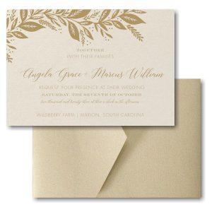 Canopy of Leaves Pocket Wedding Invitation Icon