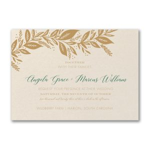 Canopy of Leaves Wedding Invitation Icon