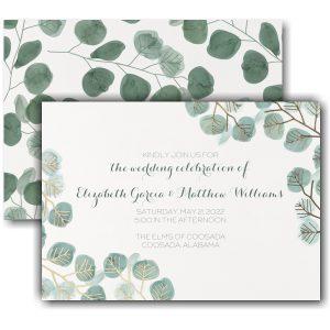 Captivating Leaves Wedding Invitation Icon