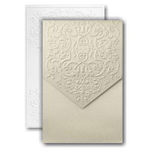 Captivatingly Sculptured Pocket Wedding Invitation Icon