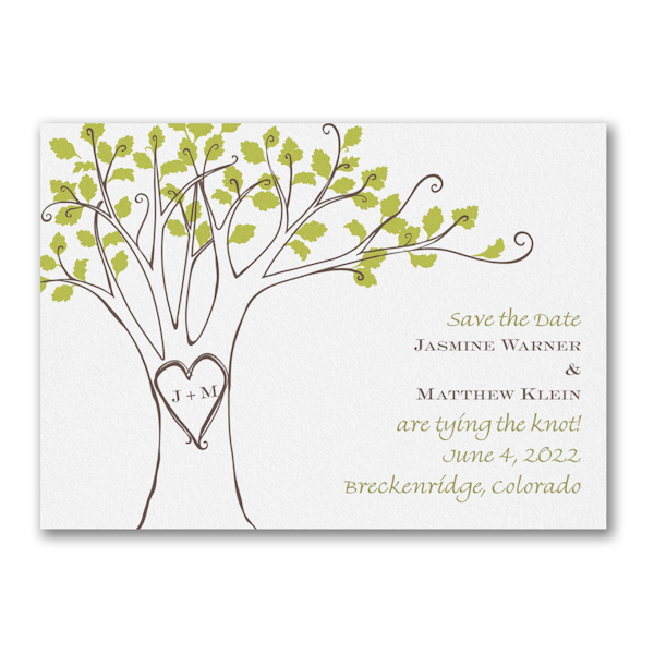 Carved Initials Save the Date Magnet