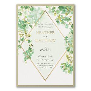 Cascading Vine Layered Wedding Invitation Icon