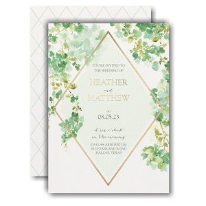 Cascading Vine Wedding Invitation Icon