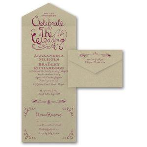 Celebrate the Wedding Seal 'n Send Wedding Invitation Icon