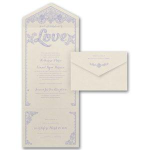 Celebration of Love Seal 'n Send Wedding Invitation Icon