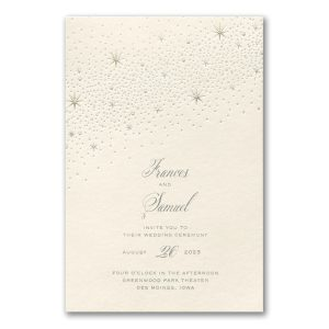Celestial Inspiration on Ecru Wedding Invitation