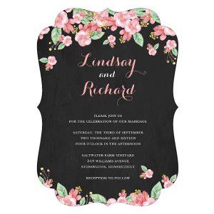 Chalkboard Floral Wedding Invitation Icon