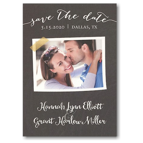 Chalkboard Tape Photo Save the Date Card Icon