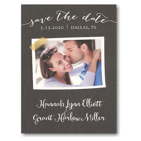 Chalkboard Tape Save the Date Magnet