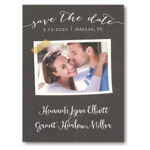Chalkboard Tape Save the Date Magnet Icon