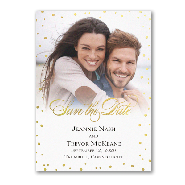 Champagne Bubbles Save the Date Magnet