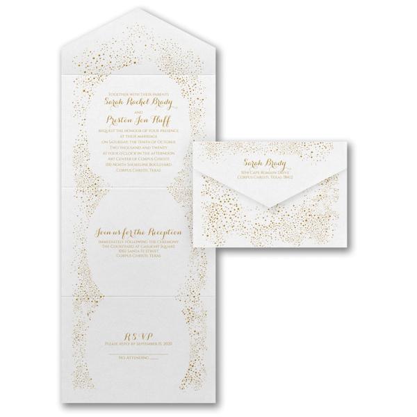 Champagne Celebrations Seal 'n Send Wedding Invitation