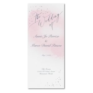 Champagne Wedding Program Icon