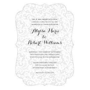 Chantilly Lace Wedding Invitation Icon