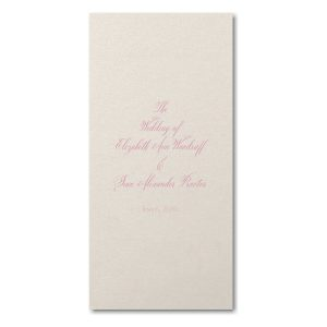 Charming Cursive Wedding Program Icon