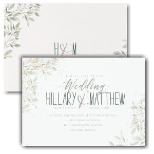 Charming Greenery Wedding Invitation Icon