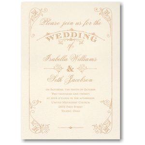 Charming Romance Sep 'n Send Wedding Invitation Icon
