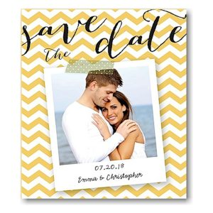 Chevron Snapshot Save the Date Magnet