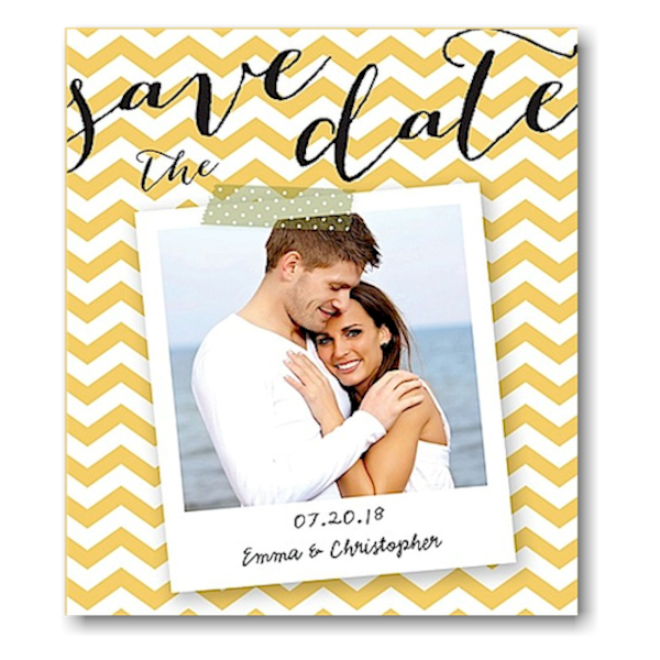 Chevron Snapshot Save the Date Magnet Icon