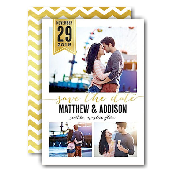 Chic Banner Save the Date Card
