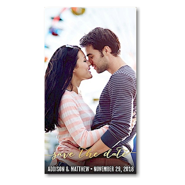 Chic Banner Save the Date Magnet