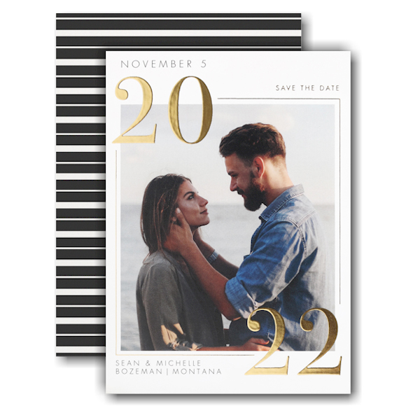 Classic Day Save the Date Card