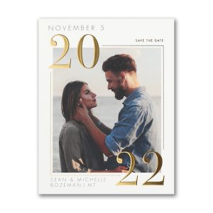 Classic Day Save the Date Magnet