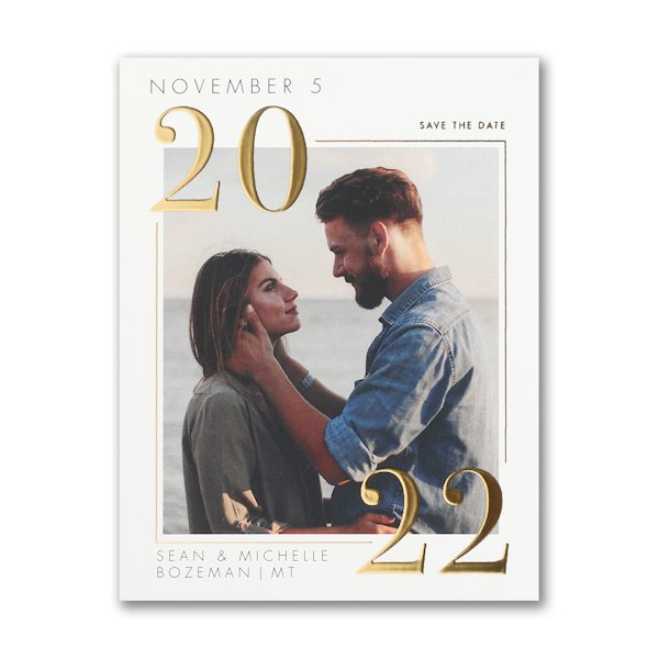 Classic Day Small Save the Date Card Icon