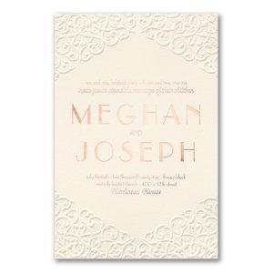Classic Flourish in Ecru Wedding Invitation Icon