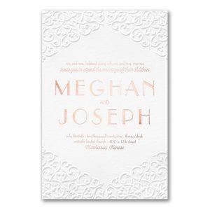 Classic Flourish in White Wedding Invitation Icon
