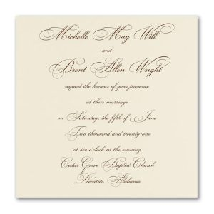 Classic Grace Wedding Invitation Icon