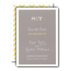 Classic Grey Simplicity Save the Date Card Icon