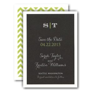 Classic Simplicity Save the Date Card Icon