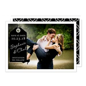 Classic Tag Photo Save the Date Card Icon