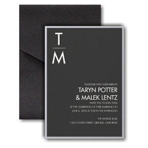 Classic Typography Layered Pocket Wedding Invitation Icon
