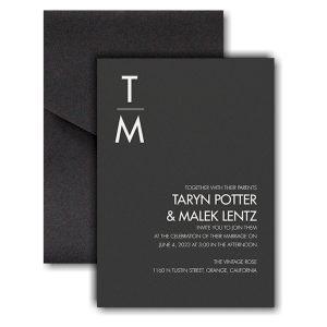 Classic Typography Pocket Wedding Invitation Icon