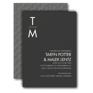 Classic Typography Wedding Invitation Icon