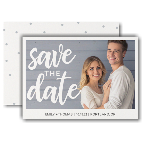 Classically Modern Save the Date Card