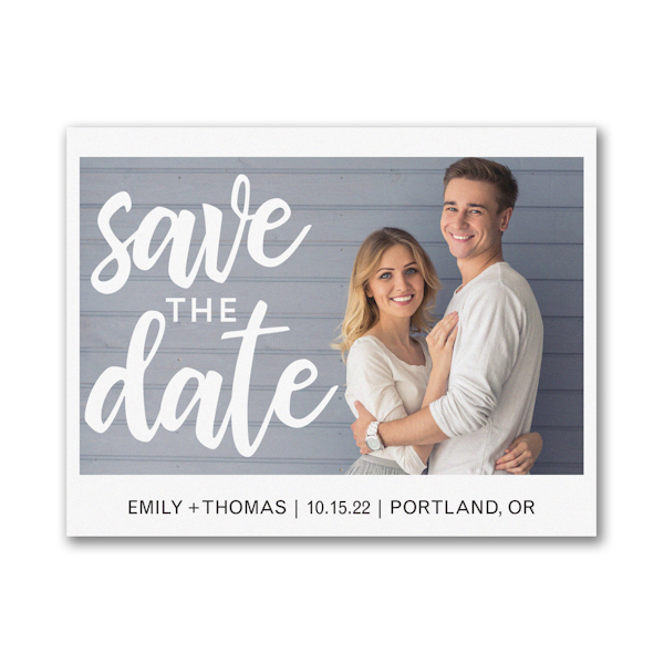 Classically Modern Save the Date Magnet Icon