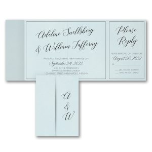 Classy Calligraphy All in One Wedding Invitation Icon