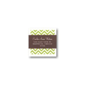 Coffee and Lime Tie the Knot Return Address Sticker