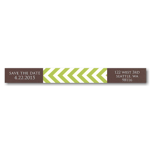 Coffee and Lime Tie the Knot Skinny Address Label