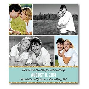 Collage Save the Date Magnet Icon
