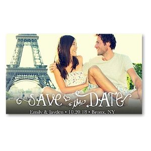 Collage White Save the Date Magnet Icon