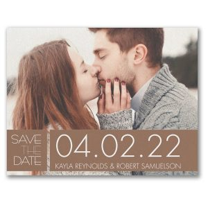 Color Block Date Save the Date Card Icon